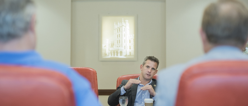 17-U.S. Rep Adam Kinzinger meets with President Freeman-0801-DG-050